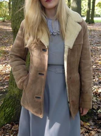 Lässig Langarm Mantel modetalente