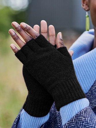 Retro Individualität Unifarben Fingerlos Lässig Handschuhe