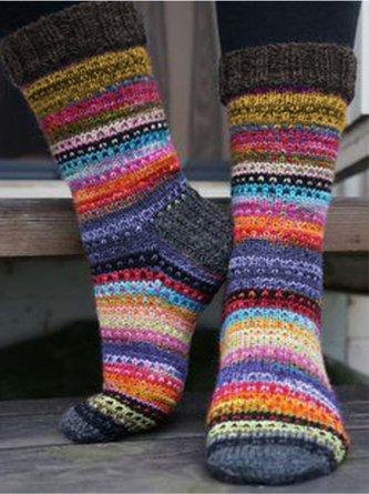 Modetalente Rote Gestrickte Socken