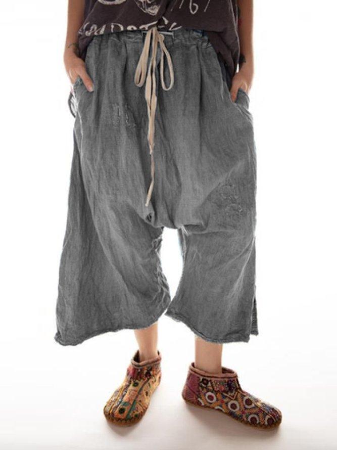 Lässige Hosen mit Taschen Baumwolle