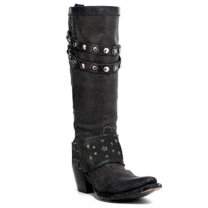 Stilvoller Slip-On Cowboystiefel Damen mit Blockabsatz ...
