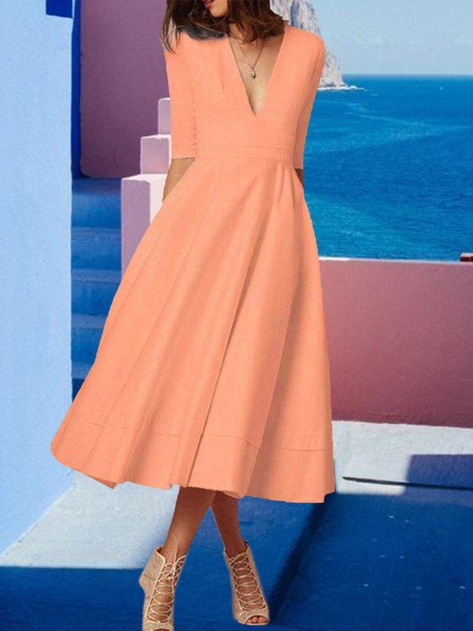 stilvolles kleid mit kurzen Ärmeln | modetalente