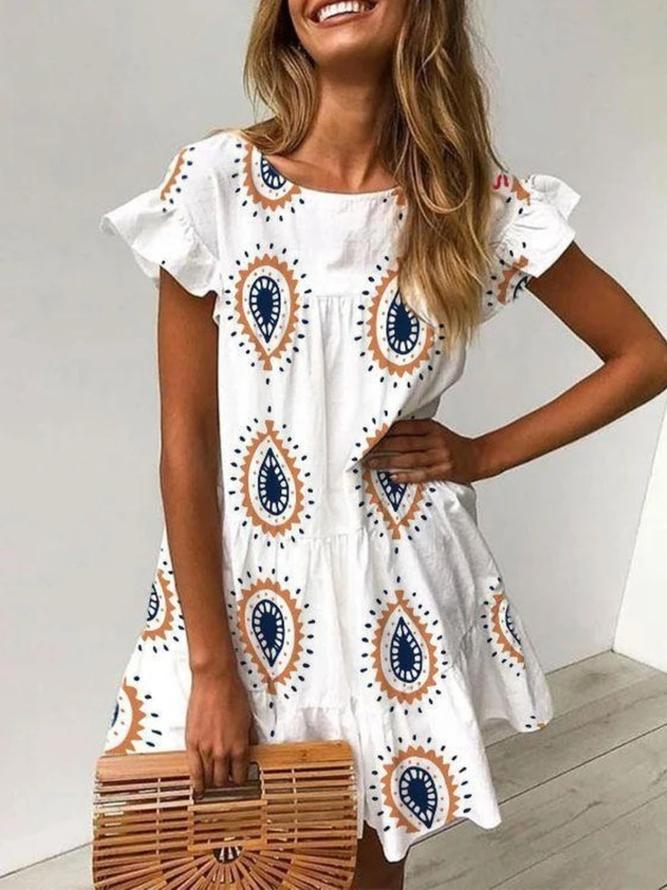 weiß baumwolle freizeitkleid | kleider | weiß baumwolle