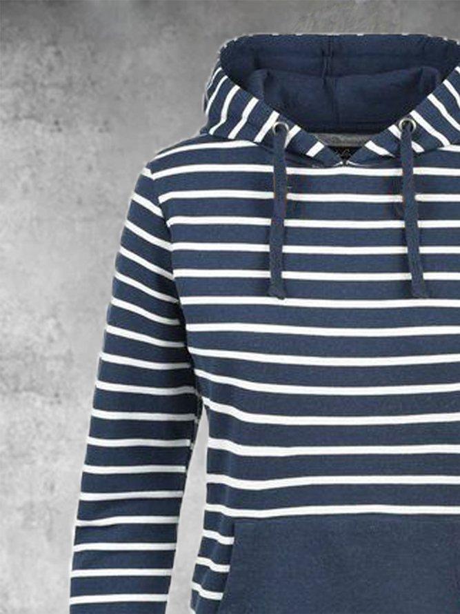 Jersey Langarm Normale Kleider mit Streifen   Kleider ...