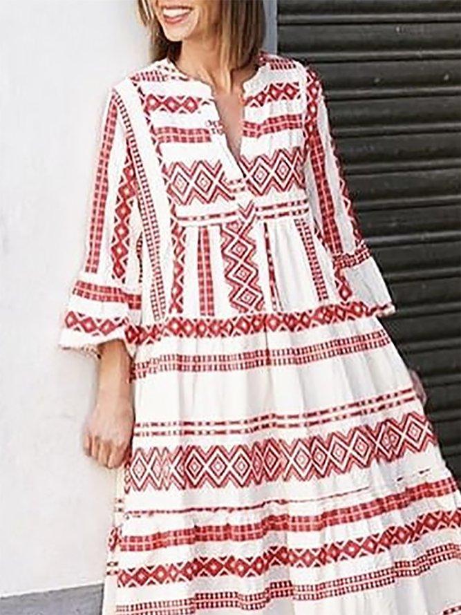 geometrisch vausschnitt 34 Ärmel kleider  kleider  v
