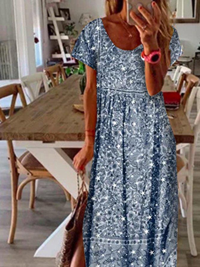 lässige baumwollgemische freizeitkleider  kleider