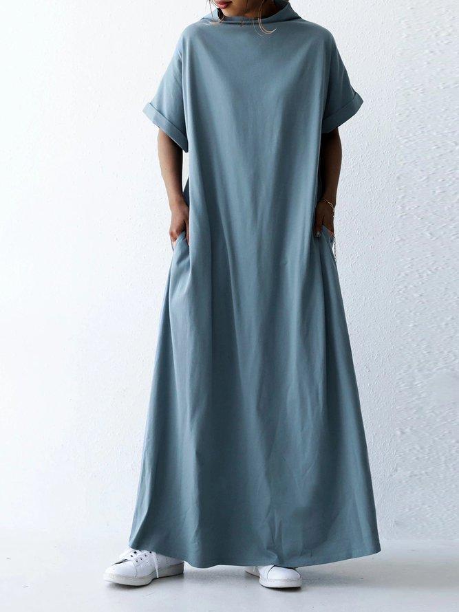 lässige baumwollgemische kleider  kleider  unifarben a